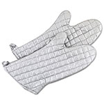 "Browne Halco SOM17 17"" Cotton Grill or Oven Mitt, Aluminized Silicone Non-Stick Coating"