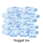 Ice-O-Matic GEMU090 Undercounter Nugget Ice Maker - 85-lbs/day, Gravity Drain, 115v