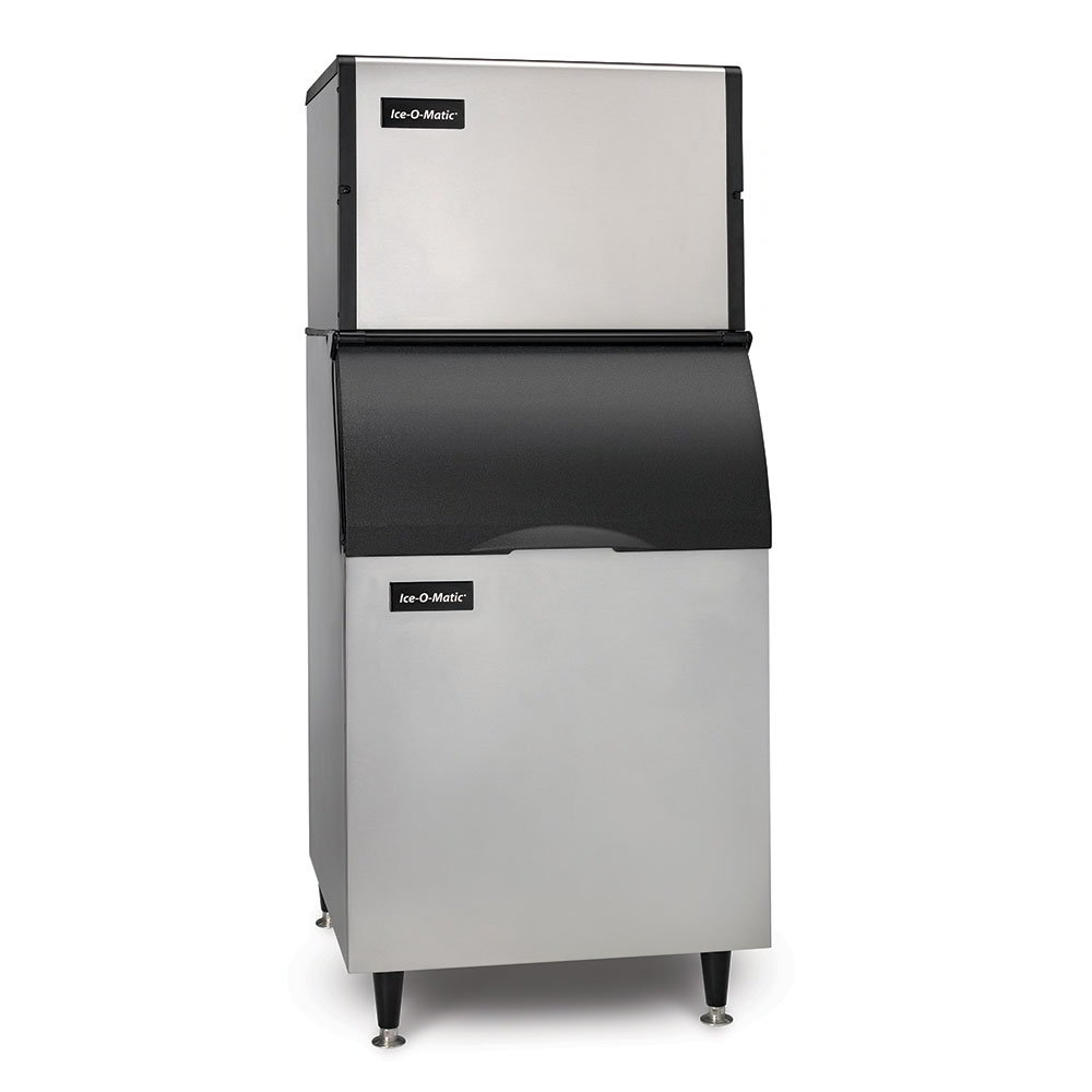 Ice-o-matic ICE0400FA/B55PS 115V 505-lb/Day Full Cube Ice Maker w/ 510-lb Bin, Air Cooled, 115v