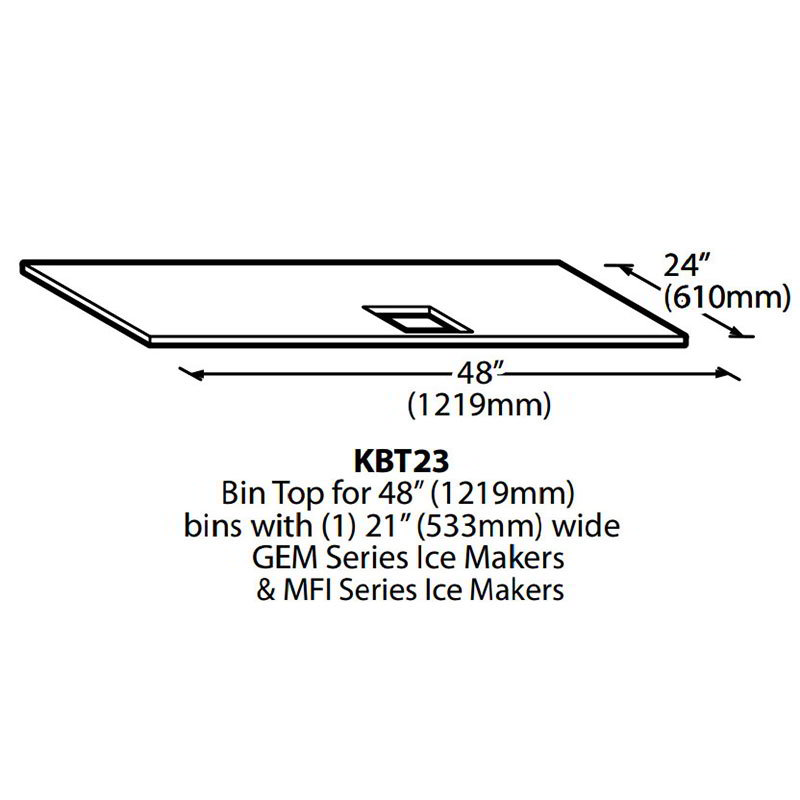 Ice-O-Matic KBT23 Ice Bin Top for (1)-MFI Dispenser
