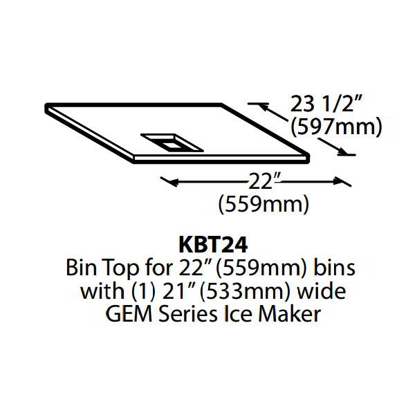 Ice-O-Matic KBT24 Ice Bin Top for (1)-MFI Dispenser