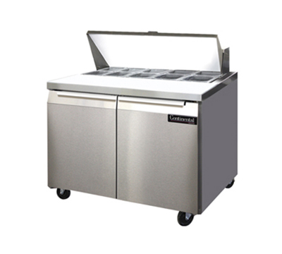 "Continental Refrigeration SW36-10/00SR 36"" Sandwich/Salad Prep Table w/ Refrigerated Base, 115v"