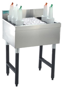 Supreme Metal CRJ-36 Cocktail Unit and Ice Bin 36 in W x 21 in D Overall 8 in D Bin Restaurant Supply