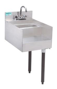 Supreme Metal SL-RS-15 Slimline Underbar Add-On Unit, 15 in Blender Station with Dump Sink