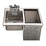 Supreme Metal D-24-SIBL-X Drop In Hand Sink & Insulated 23-lb Ice Chest