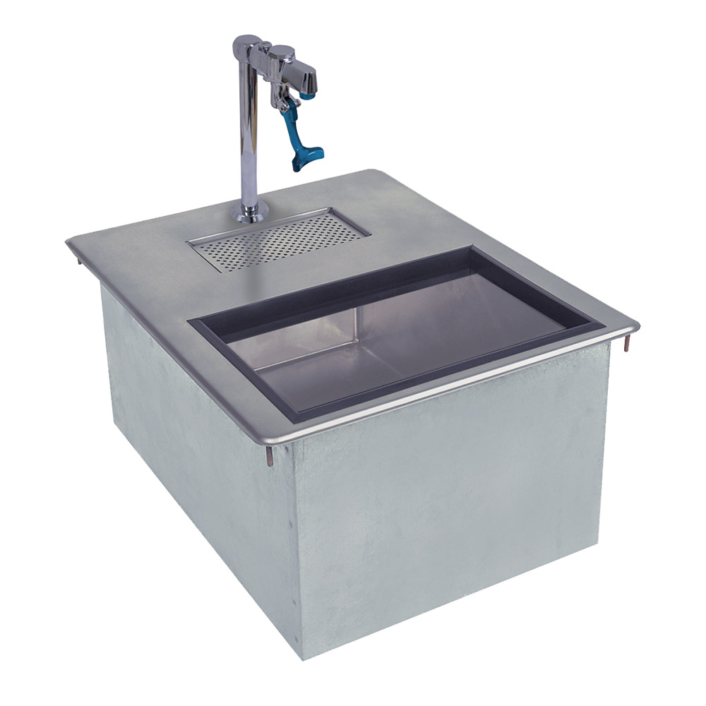 Supreme Metal D-24-WSIBL2-X 50-lb Insulated Drop-In Ice & Water Unit w/ 1-in Drain, Drip Pan