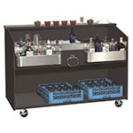 Supreme Metal D-B Duchess Series Portable Bar, 60 in L, Black