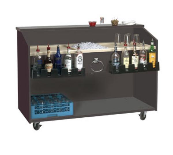 Supreme Metal M-B Marquis Series Portable Bar, 60 in L, Black
