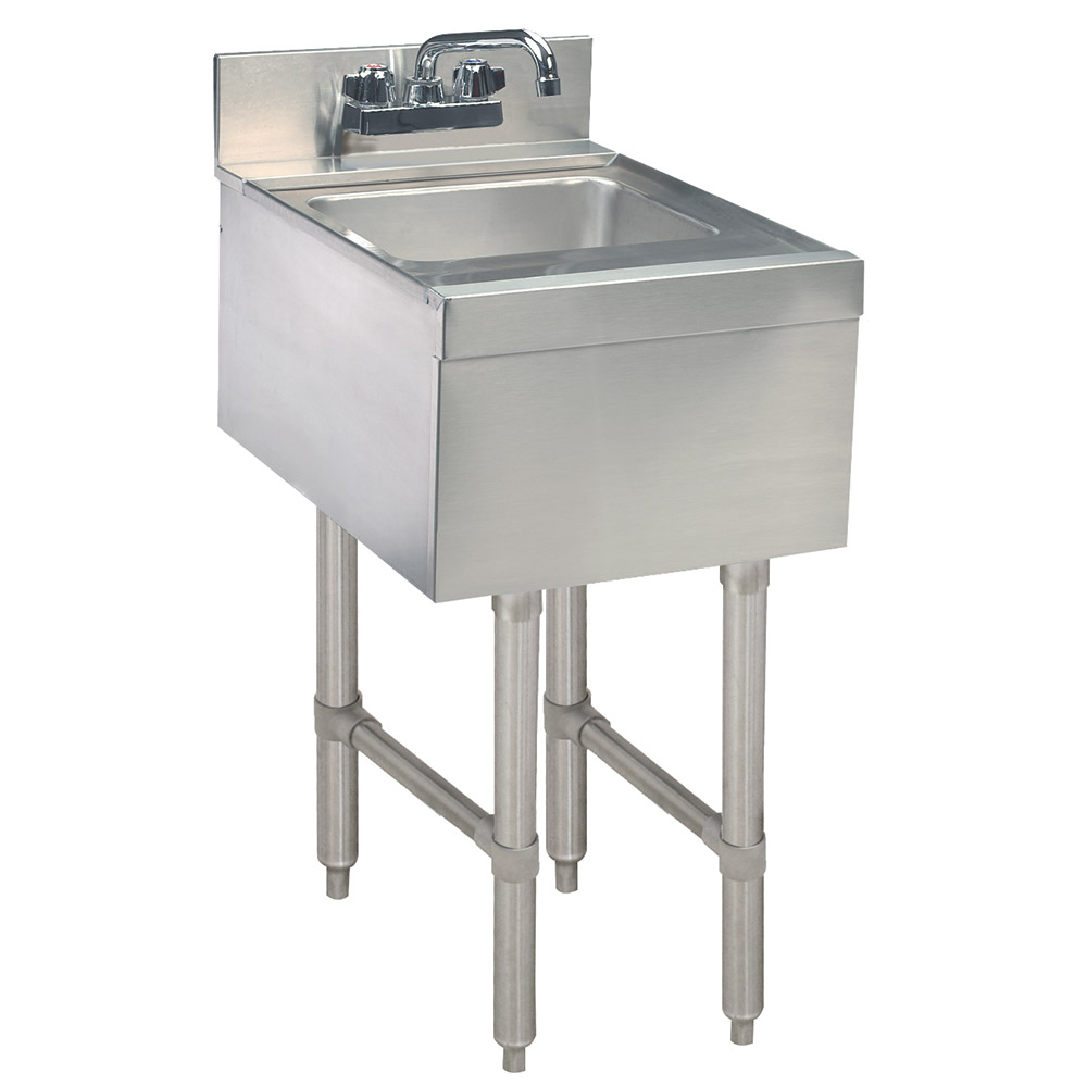 Supreme Metal CR-HS-15-X 15-in Underbar Add-On Hand Sink, 21-in Front to Back