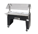 Supreme Metal B4-120-B Portable Hot Food Buffet Table w/ Open Base & 4-Wells, 120 V