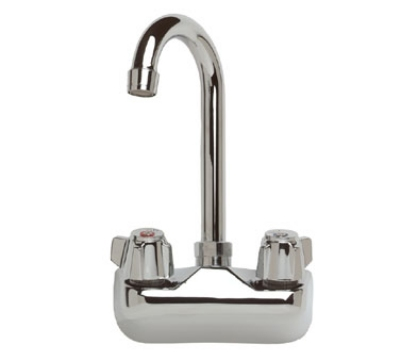 Supreme Metal A-35-S Faucet w/ Goose Neck Splash Mount, Heavy Duty, Upgrade