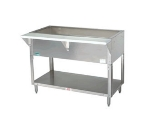 Supreme Metal CPU-2 34-in Cold Pan Table, Open Base w/ Undershelf, 31-13/16-in Long