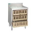 Supreme Metal CRCR-24-CT-X 24-in Closed Glass Rack Cabinet w/ 3-Pair Rack Glides, Stainless