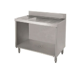 Supreme Metal CRD-42B 42-in Bar Type Modular Drainboard w/ Open Cabinet Base, Stainless
