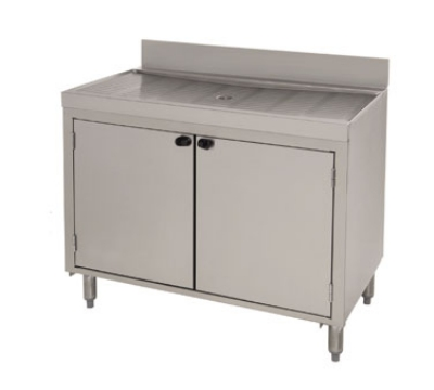 Supreme Metal CRD-3BD 36-in Bar Type Modular Drainboard, Open Cabinet Base w/ Doors