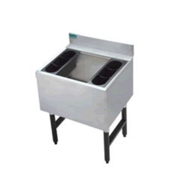 Supreme Metal CRI-16-36 36-in Challenger Cocktail Unit, 16-in Chest w/ False Bottom, 150-lb Ice
