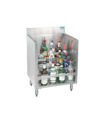 Supreme Metal CRLR-36 36-in Liquor Display Rack w/ 5-Bottles Per Tiered Step