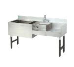 Supreme Metal CRU-60L 60-in Challenger Uni-Serv Speed Bar w/ Left Ice Bin & Dump Sink