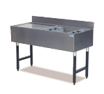 Supreme Metal CRW-4R 48-in Ice Bin Cocktail Station w/ Left Drainboard & 8-in Chest