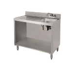 Supreme Metal CRWC-3 35-in Open Wet Dry Waste Cabinet, Stainless