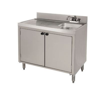 Supreme Metal CRWC-3-DR 35-in Wet Dry Waste Cabinet w/ Doors, Stainless