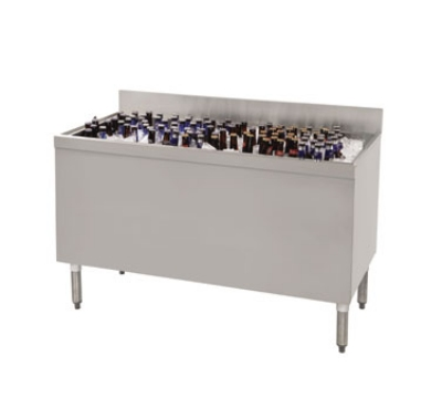 "Supreme Metal PRBB-60 60"" Ice Well Bottle Cooler - Holds (432) 12-oz Bottles"
