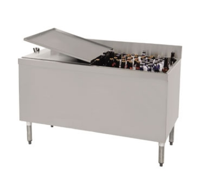 "Supreme Metal PRBB-60-LC 60"" Ice Well 432-Capacity Bottle Cooler - Stainless Interior"