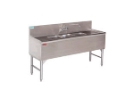 Supreme Metal PRB-19-43L 48-in Bar Sink w/ 3-Compartments, 11-in Right-Hand Drainboard, Splash Mount