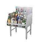 Supreme Metal PRLR-19-36 36-in Free Standing Liquor Storage Rack, 45-Bottle, 24-in Front To Back