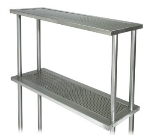 Supreme Metal SCDO-44-G 44-in Slimline Double Table Mounted Overshelf w/ Stemware Glass Rack