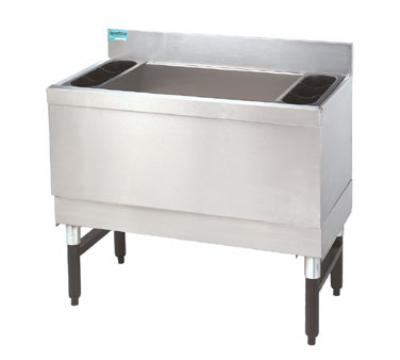 Supreme Metal SLI-16-24-7 24-in Slimline Cocktail Unit w/ 16-in Chest, Post Mix Cold Plate, 150-lb Ice