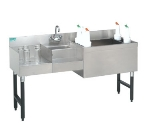 Supreme Metal SLU-60R 60-in Slimline Uni-Serv Speed Bar w/ Right Ice Bin & Dump Sink