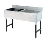 Supreme Metal SLW-4L 48-in Ice Bin Cocktail Station w/ 8-in Chest, 2-ft Right Drainboard