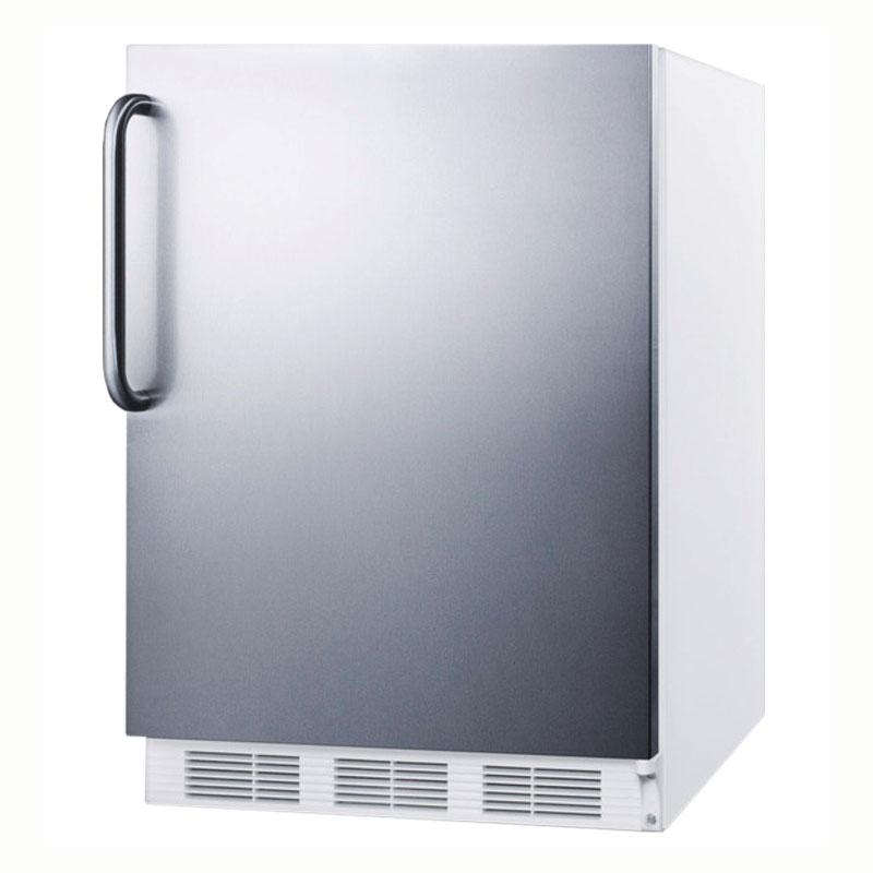 Summit AL650SSTB 5.1-cu ft Undercounter Freezer/Refrigerator w/ (1) Section & (1) Door, 115v