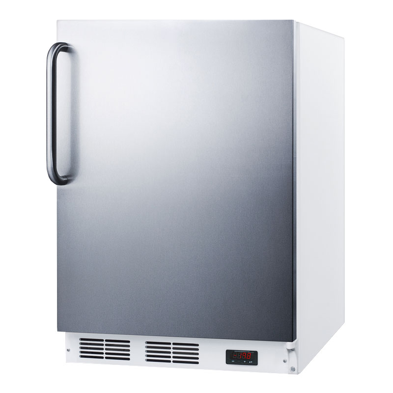Summit Refrigeration ALF620SSTB 4-cu ft Undercounter Freezer w/ (1) Section & (1) Door, 115v