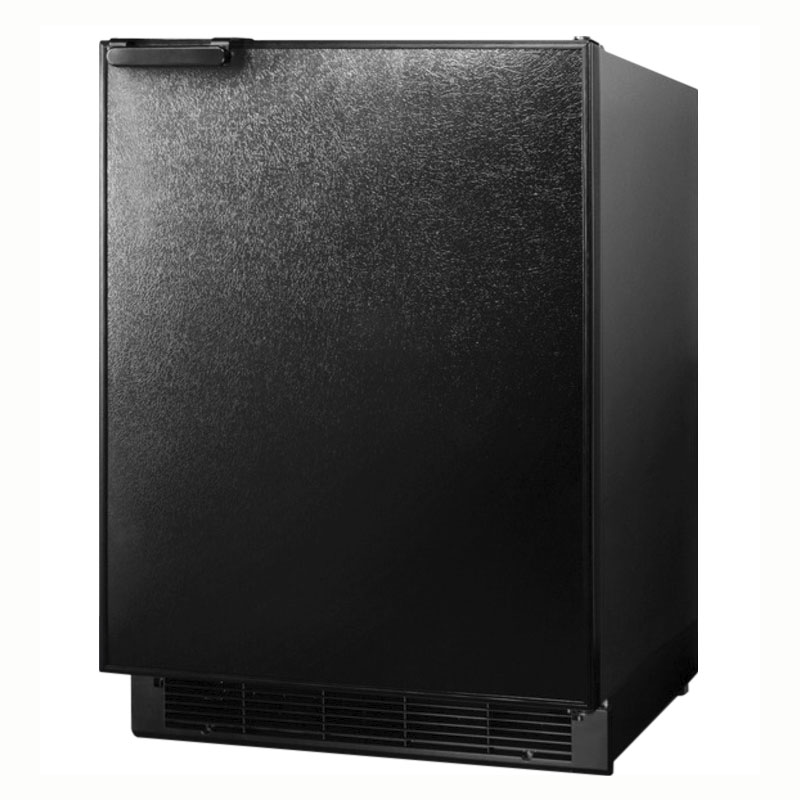 Summit Refrigeration BI605B Undercounter Refrigerator Freezer w/ Manual Defrost & Bottom Condenser, Black, 6.1-cu ft