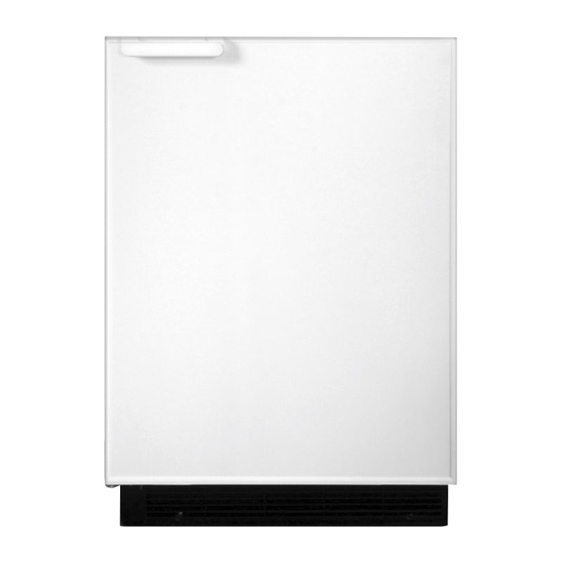 Summit BI605R Undercounter Refrigerator Freezer w/ Manual Defrost, White, 115v