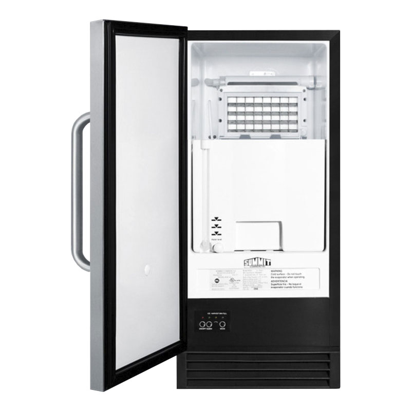 Summit BIM44G Undercounter Full Cube Ice Maker - 50-lbs/day, Air Cooled, 115v