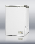 Summit CF04 Manual Defrost Chest Freezer, Lid with Lock, White