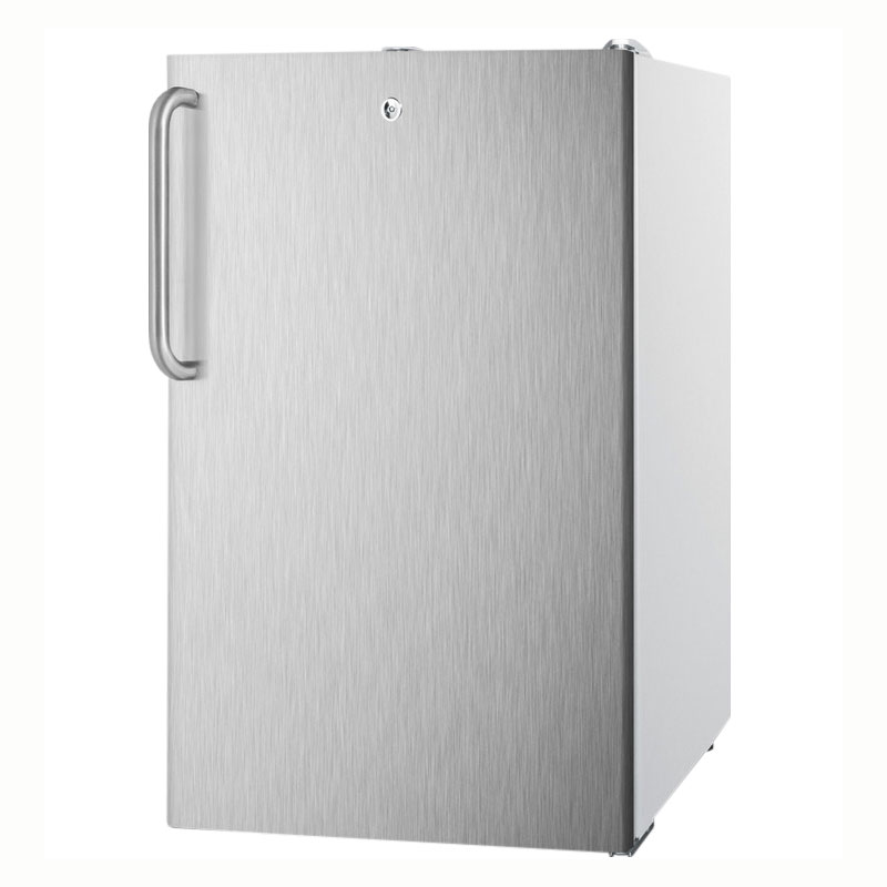 Summit CM411L7SSTBADA 4.1-cu ft Undercounter Refrigerator Freezer w/ (1) Section & (1) Door, 115v