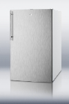 Summit Refrigeration CM411LBISSHV 20-in Refrigerator Freezer w/ Manual Defrost & Sleek Pro Handle, White, 4.1-cu ft