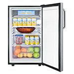 Summit CM421BLBI7SSTB 4.1-cu ft Undercounter Refrigerator Freezer w/ (1) Section & (1) Door, 115v