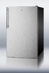 Summit Refrigeration CM421BLBISSHV 20-in Refrigerator Freezer w/ Glass Shelves & Manual Defrost, Jet Black, 4.1-cu ft, ADA