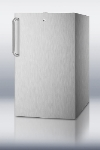 Summit Refrigeration CM421BLCSS 20-in Built In Refrigerator Freezer w/ Manual Defrost & Lock, Stainless, 4.1-cu ft, ADA