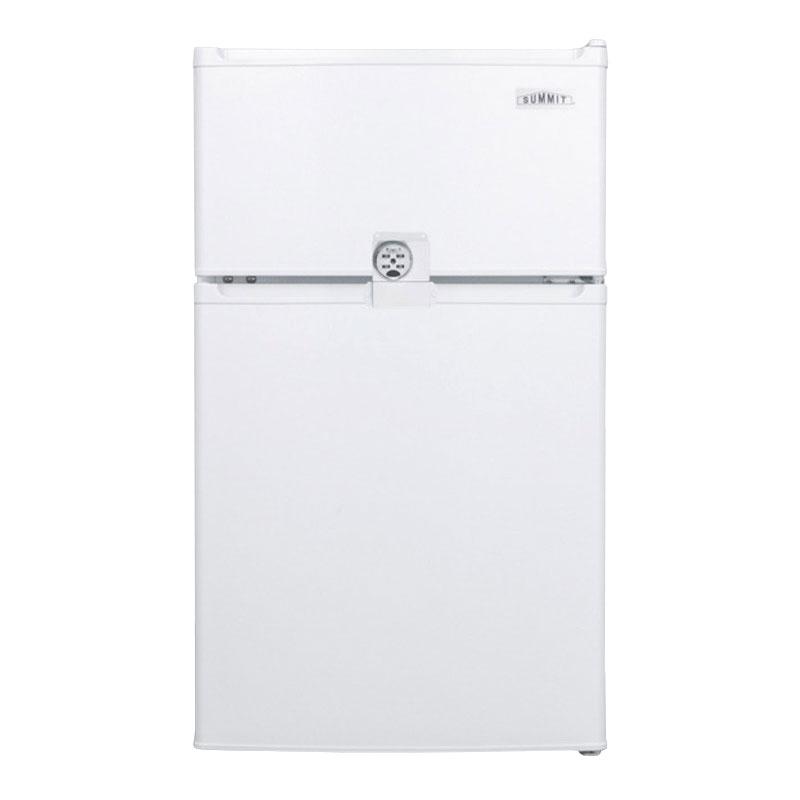 "Summit CP351WLLF2 19"" Freestanding Refrigerator Freezer w/ Combination Lock, 2.9-cu ft, White"