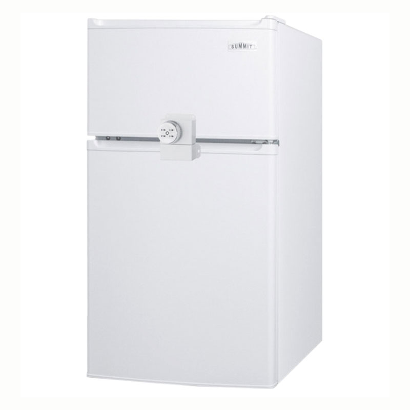 "Summit CP351WLLF2 19"" Freestanding Refrigerator Freezer w/ Combination Lock, 2.9-cu ft, White"