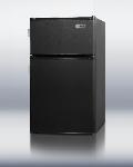 Summit Refrigeration CP35BLL Compact Refrigerator Freezer w/ 2-Door, 2-Side Locks & Cycle Defrost, Black, 2.9-cu ft