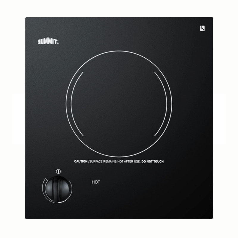 "Summit CR1115 11"" Cooktop w/ 1-Burner & Residual Heat Indicator Light, Black, 115v"