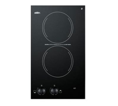 Summit Refrigeration CR2110 115 6-in Cook Top w/ Push To Turn Controls & Residual Heat Light, Ceramic, 115v, Jet Black