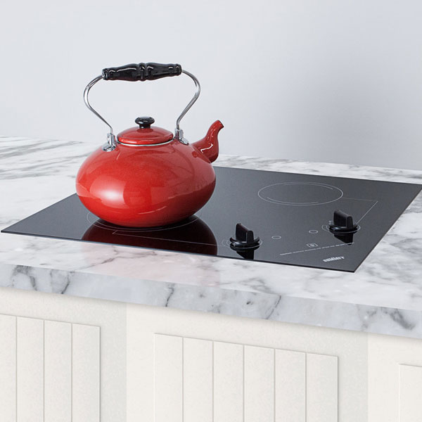 "Summit CR2B121 2-Burner Electric Cooktop - 20"" x 16"", Ceramic, 115v"